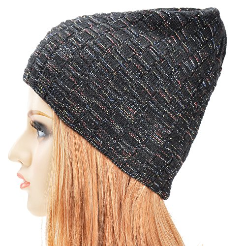 Unisex Trendy Double Layers Reversible Warm Cable Knit Beanie (Cable Knit Reversible Hat)
