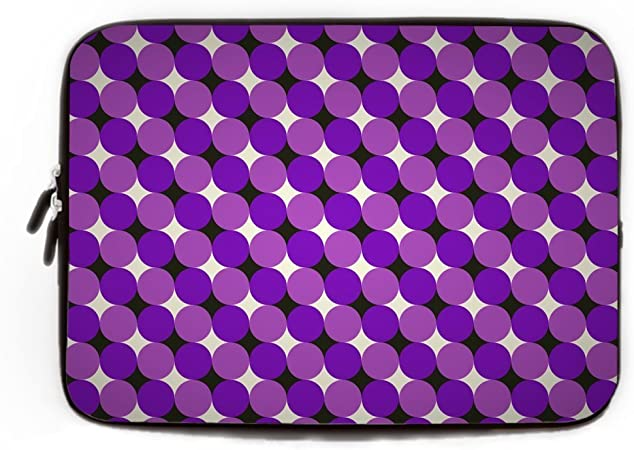Black Polka Dot 17 inch Laptop Sleeve Case Protective Computer Cover Portable Carrying Bag Pouch for Notebook