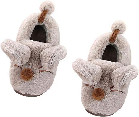 Tamcok - Zapatillas de algodón para niño y niña, diseño de ratón ...