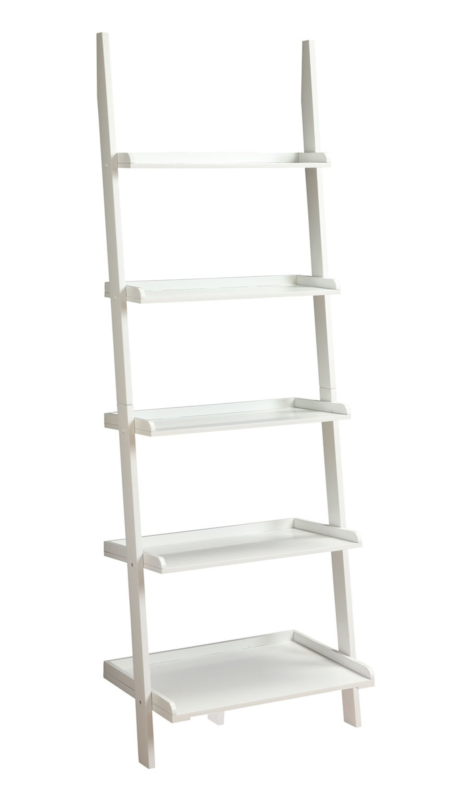 Convenience Concepts French Country Bookshelf Ladder, White by Convenience Concepts (Image #1)