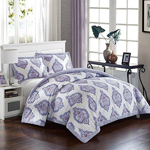 CHIC HOME DESIGN Bergen Palace 2 Piece Reversible Twin X-Long Duvet Cover Set, Lavender - Berg Bed Set