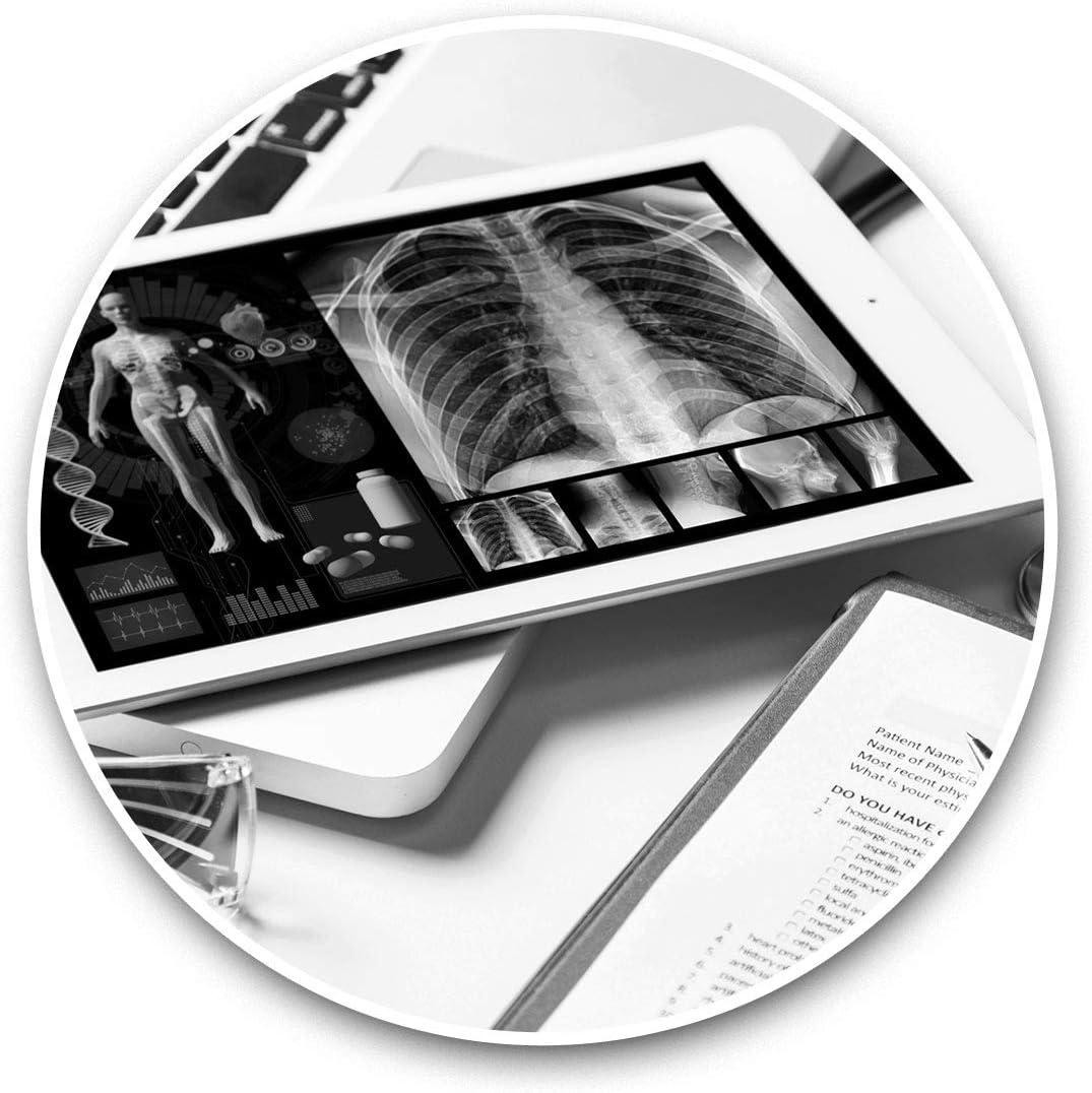 Vinyl Stickers (Set of 2) 15cm Black & White - Medical Technology Student Doctor Laptop Luggage Tablet #43196