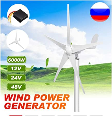 SISHUINIANHUA 6000W 12/24 / 48V Energía eólica generador de ...