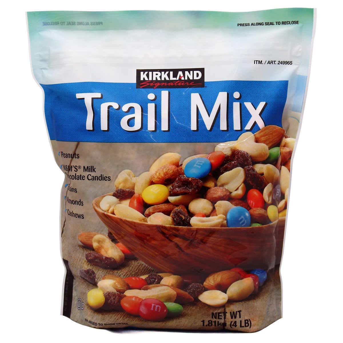 Signature Trail Mix, Peanuts, M and M Candies, Raisins, Almonds and Cashews, 4 Pound (4 Packages)