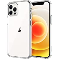 JETech Case for iPhone 12/12 Pro 6.1-Inch, Shockproof Bumper Cover, Anti-Scratch Clear Back, HD Clear