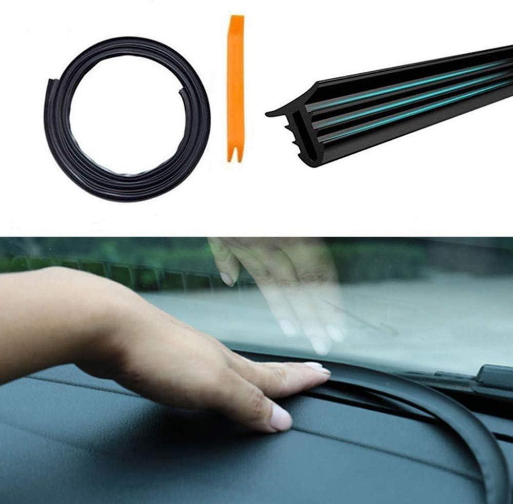 Car Seal Strip 1.6m U Type Rubber Universal Car Dashboard Edges Sealing Strip Noise Insulation for Auto Car Windshield
