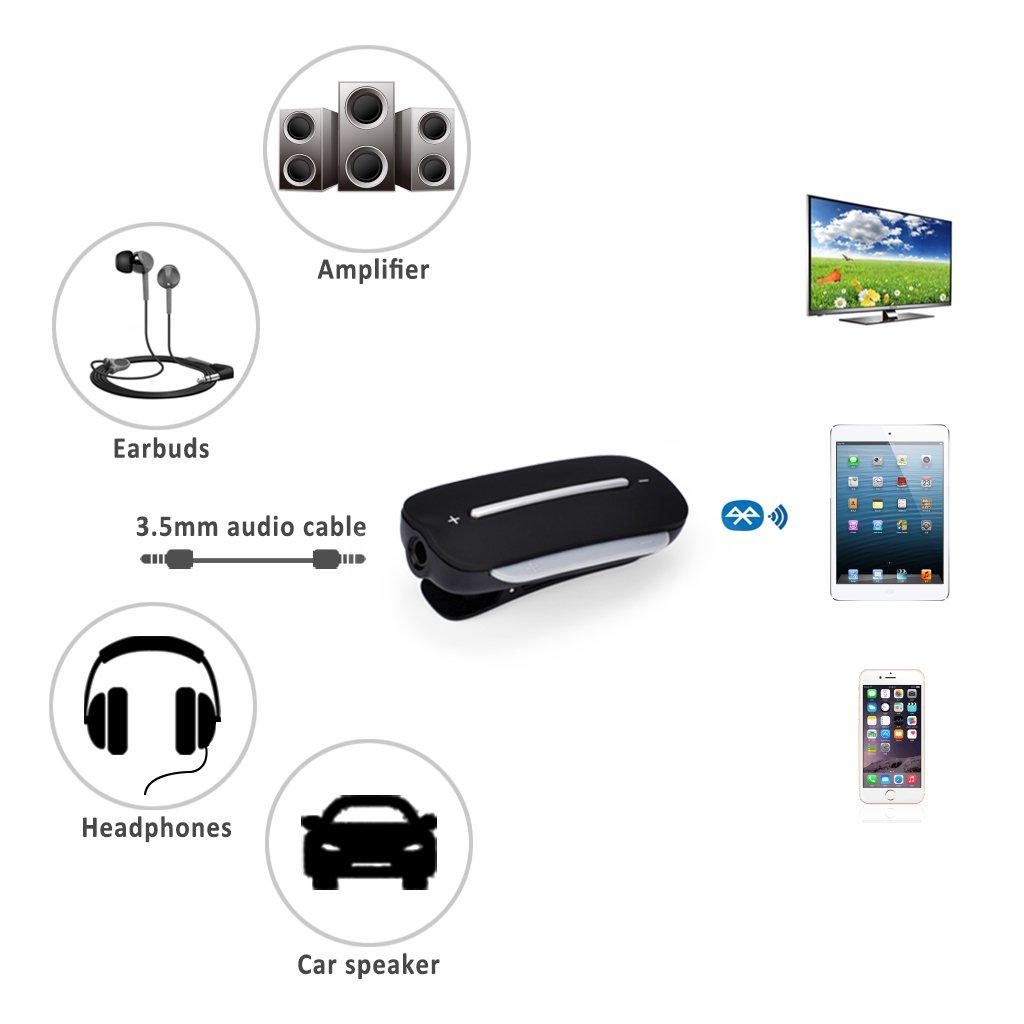 Upgrade-Version Clipper Pro aptX Low Latency Bluetooth 4.2 Adapter f/ür Kopfh/örer Sprachansage mit Clip Avantree Lautsprecher 3.5mm Wireless Audio Receiver f/ür Freispreich Anrufe und Musik