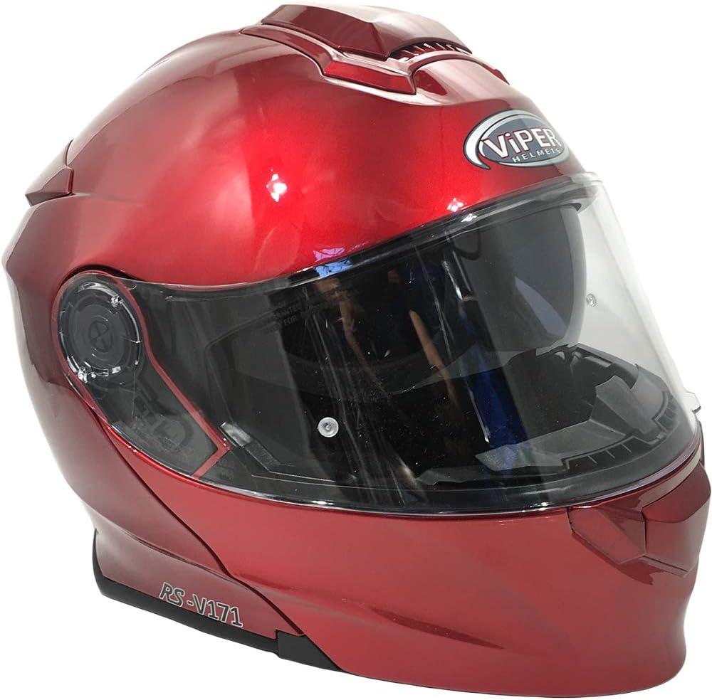 Viper RS-V171 BL Burgundy 3.0 Bluetooth Flip-Up Motorcycle Helmet