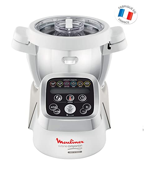 Moulinex HF802AA1 Robot cocina con 6 programas automáticos, 4,5 L de capacidad 6 personas, 12 velocidades y temperatura de 30º a 130º, función de ...