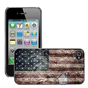 Print Motif Coque de protection Case Cover // V00001617 bandera americana EE.UU. // Apple iPhone 4 4S 4G
