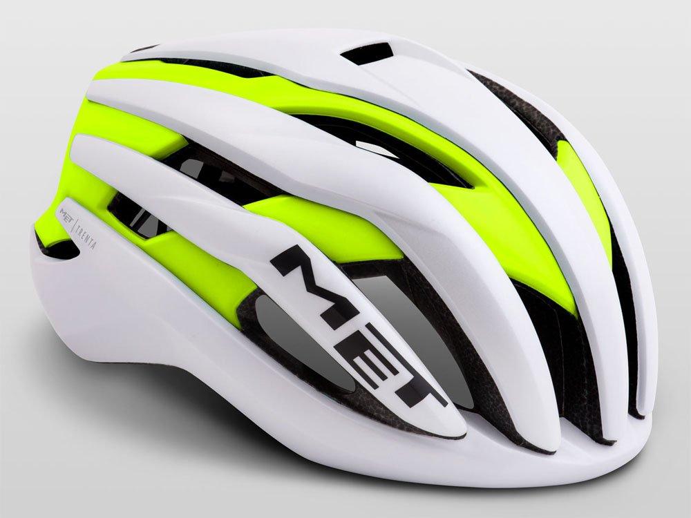 MET(メット) TRENTA(トレンタ) ヘルメット ホワイトイエロー  Large