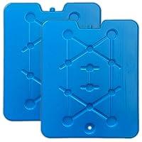 2er Set XXL Flache Kühlelemente blau   Kühlakkus Kühlbox   Kühlpads Kühltasche