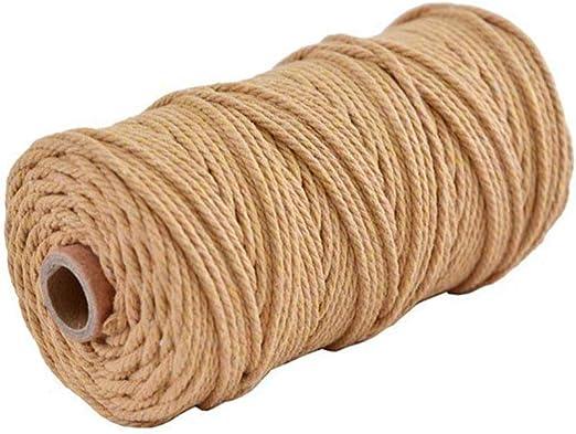 CAOLATOR. Cordón de algodón Macrame 100mx3mm Cuerda de Hilo DIY ...