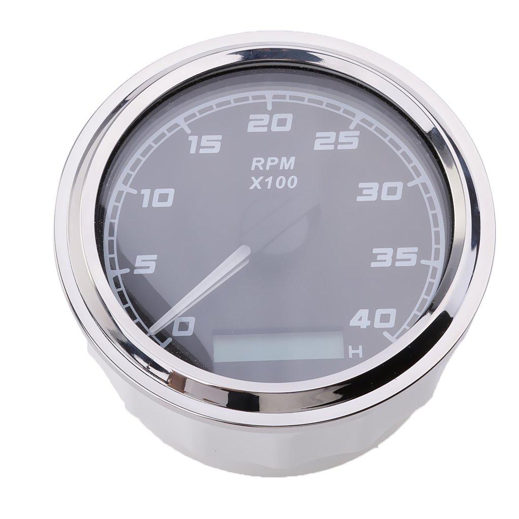 24VDC 85 Mm 0-4000 Rpm Para Motor Diesel gazechimp Tac/ómetro Negro Universal 12