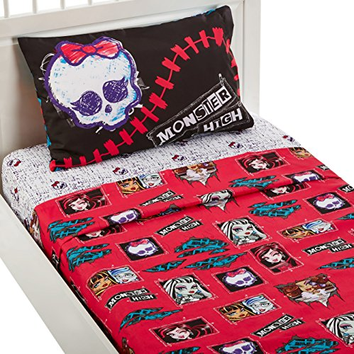 Mattel MA6068 Monster High All Ghouls Allowed Sheet Set, Twin (Girl Monsters)