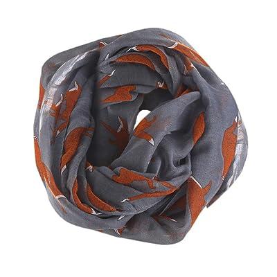 Écharpes châle foulards HUHU833 Femmes mode impression Renard écharpe châle  Automne Hiver e5b39f7487d