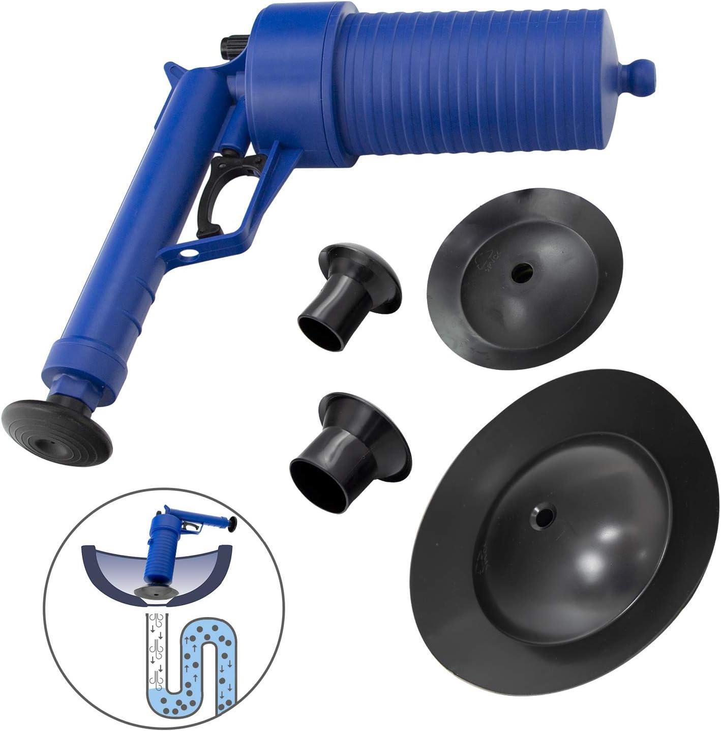 WOLFPACK LINEA PROFESIONAL 2660120 Desatascador Profesional Pistola Con Aire Comprimido
