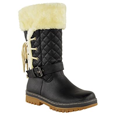 Amazon.com | Fashion Thirsty Womens Ladies Faux Fur Lined Girls ...