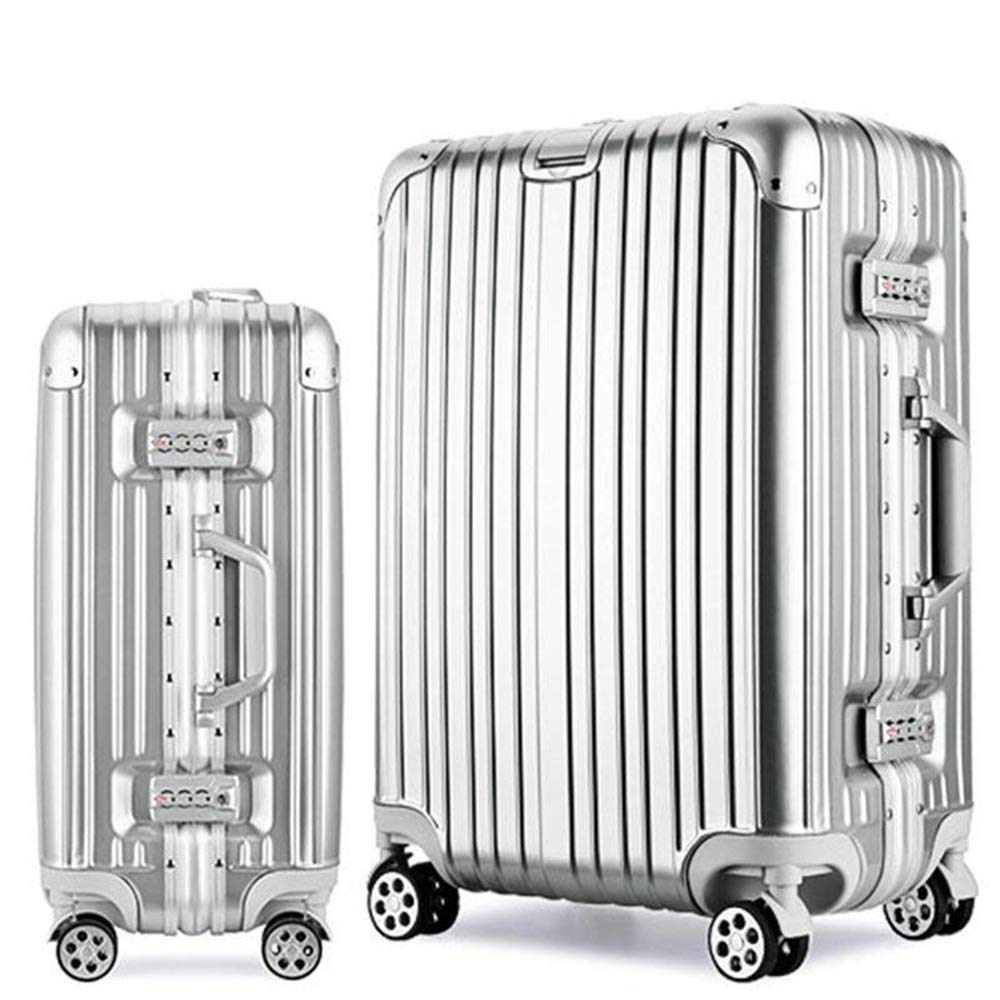 Osonmアルミニウムマグネシウム合金製 スーツケース キャリーバッグ 機内持ち込みスーツケース TSAロック 自在車 キャスター 5色6013 XL シルバー B07QPGF1DW