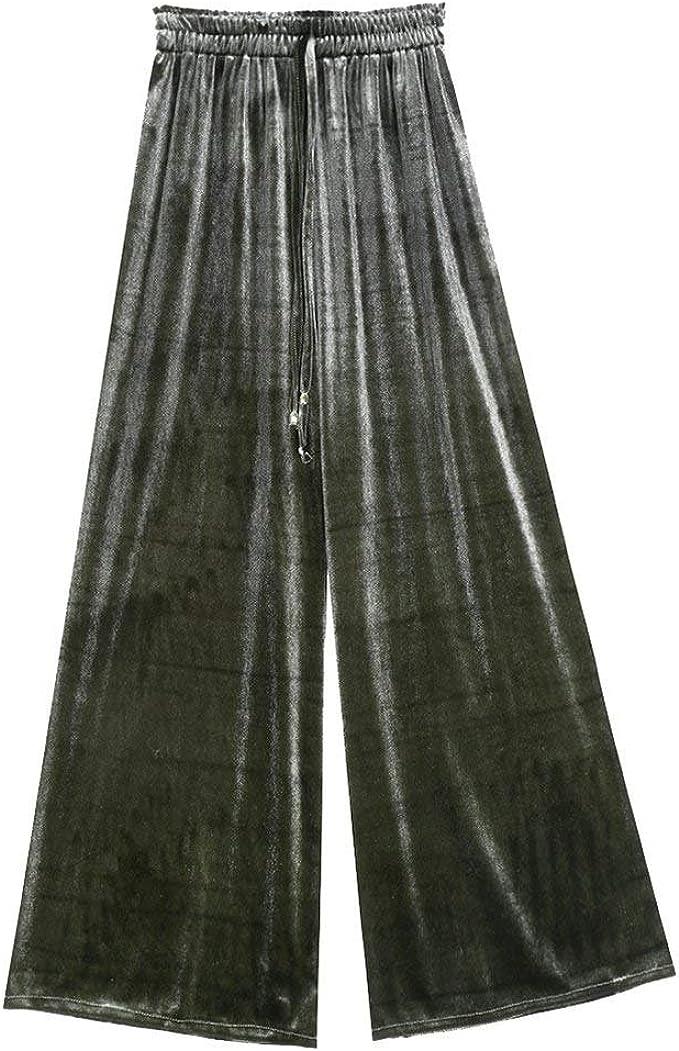 Pantalones Anchos Mujer Largas Elegante Otoño Terciopelo ...
