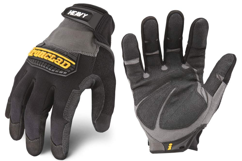 Ironclad Heavy Utility Work Gloves HUG, High Abrasion Resistance, Performance Fit, Durable, Machine Washable, Sized S, M, L, XL, XXL (1 Pair)