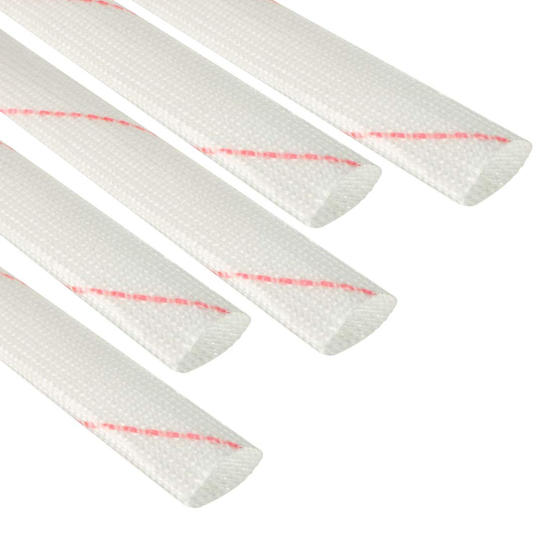 uxcell 20Pcs 3ft Length 4mm Inner Dia Flexible Electrical Wire PVC Fiberglass Insulation Sleeves Pipe Tube Cable Wrap