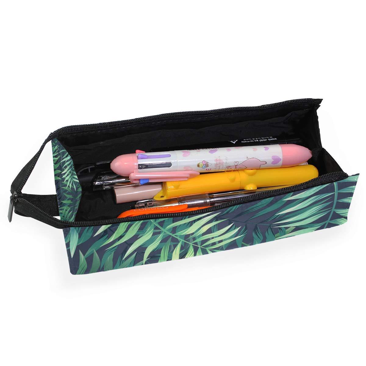 Leaf Tropical Green Summer Glasses Case Women Men Eyeglasses Bag Pencil Case Pouch
