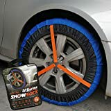 atliprime 2pcs Anti-Skid Safety Ice Mud Tires Snow Chains Auto Snow Chains Fabric Tire Chains Auto Snow Sock on Ice and Snowy Road (AT-SB77)