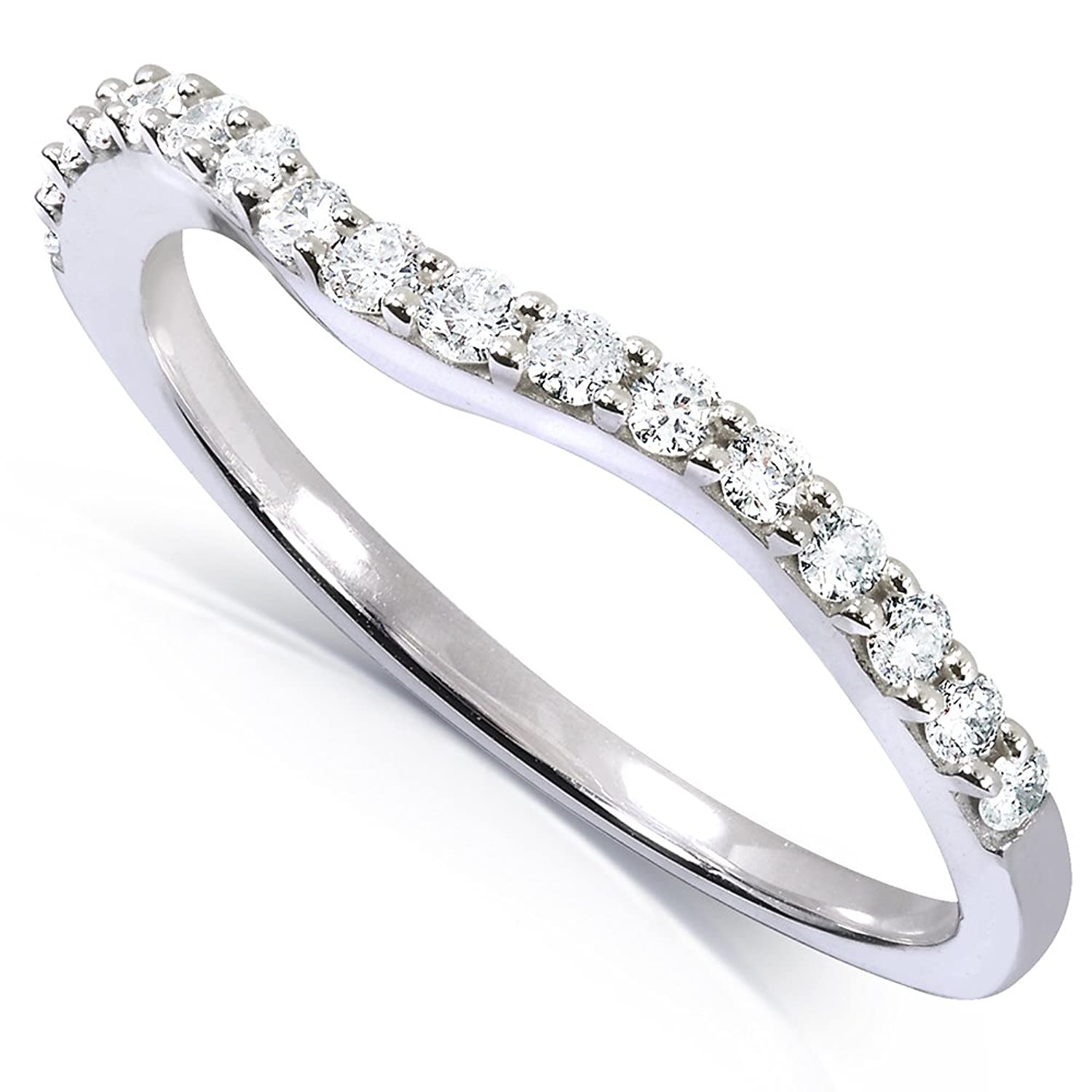 wedding gold rings her band matching edge half yellow ring curved for plain diamond eternity