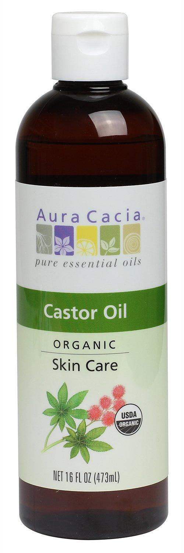 Aura Cacia Skin Care Oil - Organic Castor Oil - 16 Fl Oz, 16 Fluid Ounce by Aura Cacia