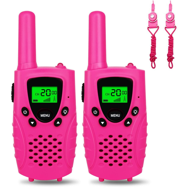 Walkie Talkies Ni/ños PMR 446 MHz 0.5W 8 Canales Regalos de Cumplea/ños Juguetes de Ni/ñas LCD Pantalla Funci/ón VOX Linterna Incorporado con Larga Distancia