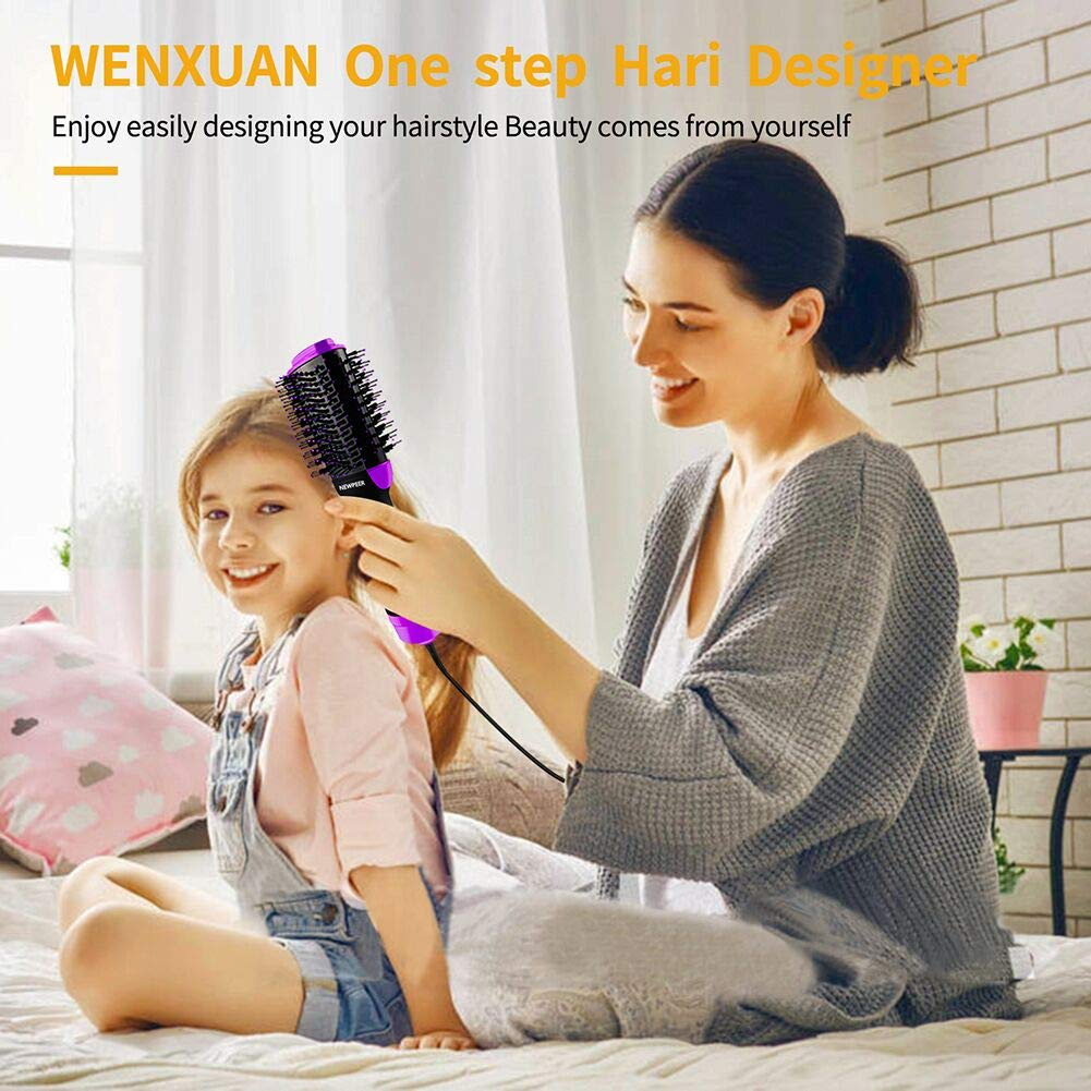 One Step Hair Dryer and VolumizerHair Dryer Brush3 in 1 Hot Air Brush Antiscald Negative Ion Hair