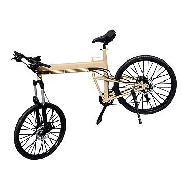 Desconocido Juguete de Niños Juego Educativo Escala 1: 6 Bici Bicicleta Plegable - Caqui