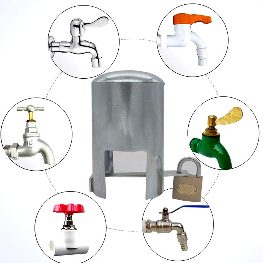 tap Lock Padlock Outdoor Faucet Locking System - Insulated Garden Hose and casing Lock and Cover - Saves Water, Prevents Unauthorized use and Vandalism, and is Easy to Install