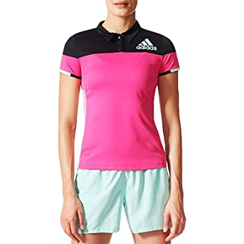 adidas Performance - Polo de bádminton para Mujer, Color Rosa ...
