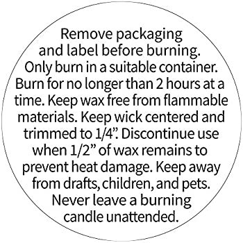 image relating to Free Printable Candle Warning Labels referred to as : CANDLE Caution Sticker Jar Container White