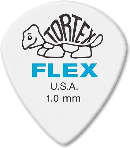 12 Pack Jim Dunlop Tortex Flex Jazz III XL Plectrum Players Pack 1.0mm