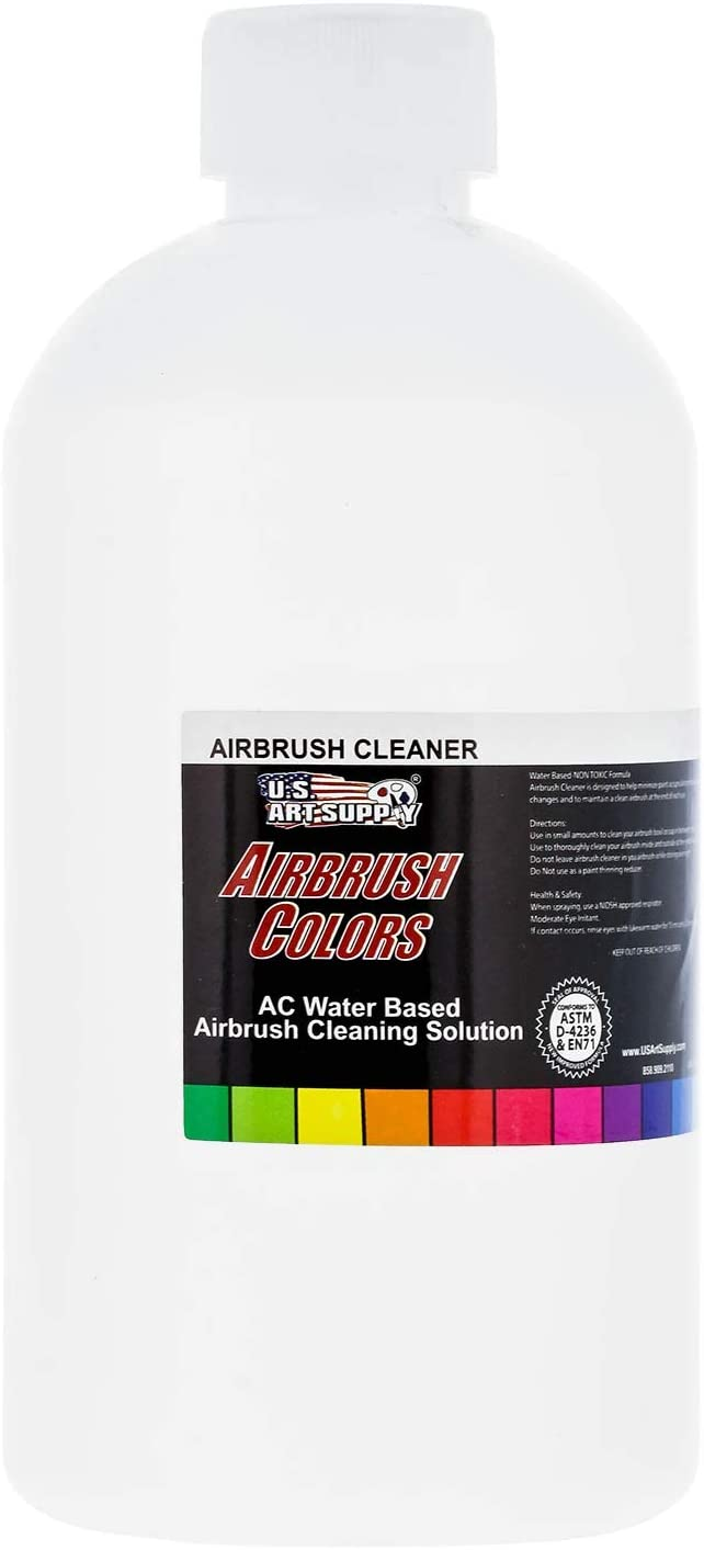 U.S. Art Supply - Airbrush Cleaner - (16-Ounce Pint) Fast Acting for Airbrush Paint, Make Up, Tanning, Cake Airbrush Colors: Everything Else