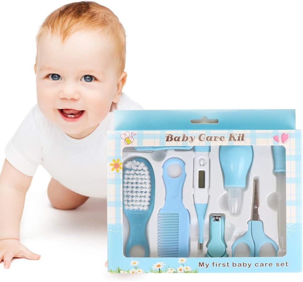 Set para Cuidado del Bebé, Conveniente Bebé Kit, Bebé Kit de Cuidado Diario, Kit de Aseo Nail Clipper Tijeras Cepillo de Pelo Peine Manicura Termómetro,10 Piezas.: Amazon.es: Bebé