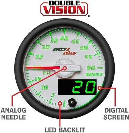 52mm MaxTow Water Temp Temperature °F Gauge w Digital LED /& Analog Readouts
