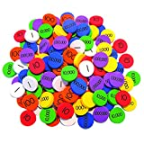 Place Value Disks (140 Disks: 20 for each of 7 values), Singapore Math Manipulatives (Grades 3-6)