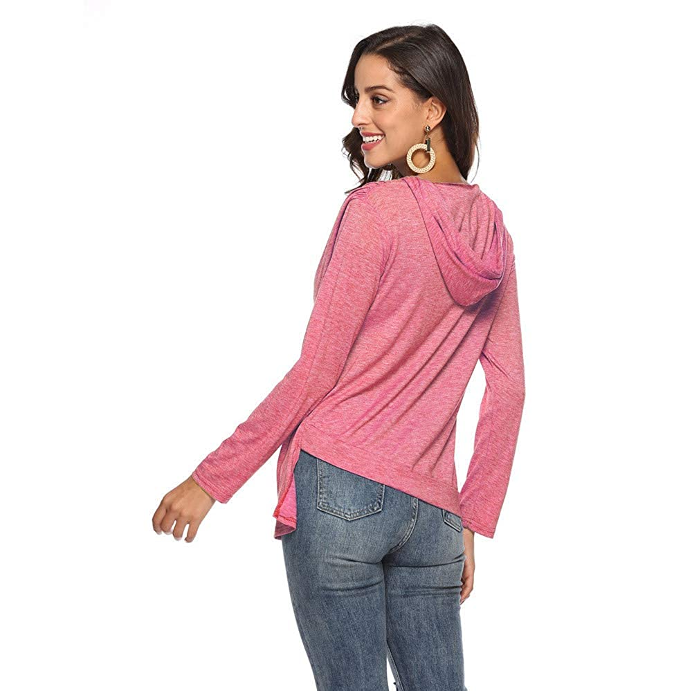 Keliay Clearance Sale, Womens Daily Fashion Long Sleeve T-Shirts Casual Irregular Loose Tops Blouse at Amazon Womens Clothing store: