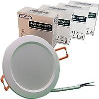 AquastrongLED Recessed 3.5 inch - 12VAC/DC Waterproof Shockproof Ultrathin Flushmount Downlight LED Light - 3W, 4000K…