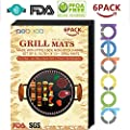 NETCAT -Grill Mat- 100% Non-stick BBQ Grill & Baking Mats - FDA-Approved, PFOA Free, Reusable and Easy to Clean - Works on Gas, Charcoal, Electric Grill and More from NETCAT