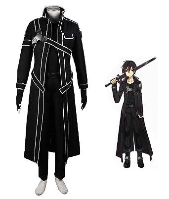 a07c75bc3eef Cosplay Costume Sword Art Online Kazuto Kirigaya Kirito Anime