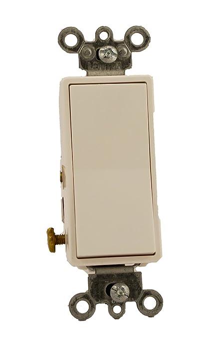 Leviton 56142W 15 Amp 120277 Volt Decora Rocker Lighted Handle