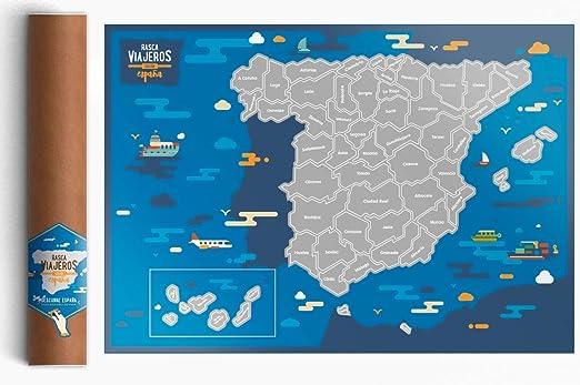 Rasca Viajeros Mapa rascable España: Amazon.es: Hogar