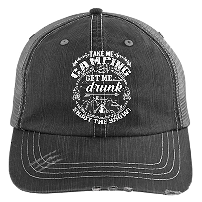 817cba2c0 Take Me Camping Hat, Get Me Drunk Trucker Cap (Trucker Cap - Black ...