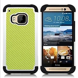 - lines vibrant white pattern summer/ H??brido 3in1 Deluxe Impreso duro Soft Alto Impacto caja de la armadura Defender - SHIMIN CAO - For HTC ONE M9