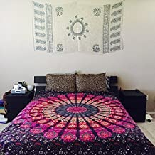 Purple Hippie Tapestry, Hippy Mandala Bohemian Tapestries, Indian Dorm Decor, Psychedelic Tapestry Wall Hanging Ethnic Decorative
